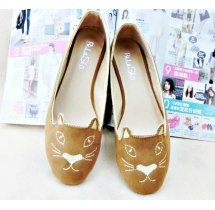 Vintage Embroidery Designed Women Flat Shoes