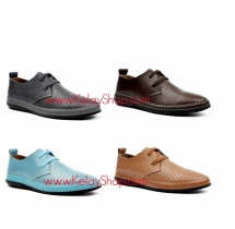 Genuine Leather Breathable Design  Quality Casual Men Shoes
