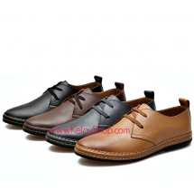 Genuine Leather  Quality Casual Men Shoes