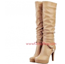 Buckle Design High Heel  / Ankle Boots